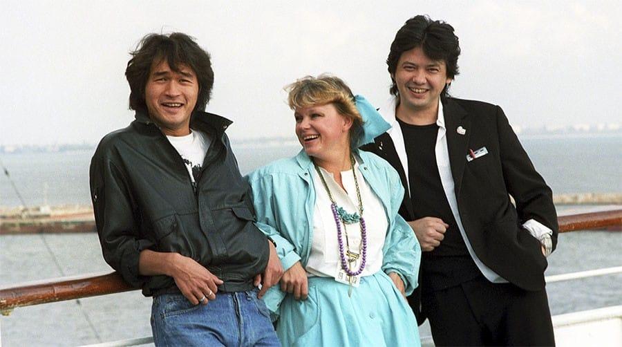 Виктор Цой, Нина Ильина и Рашид Нугманов, 1989 год, Фото Галины Кмит/РИА «Новости»