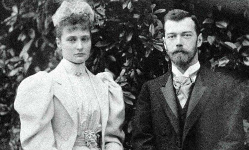 Nicolas II and his wife Alexandra Fedorovna